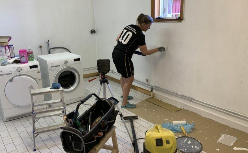 Renovering av tvättstuga del 1