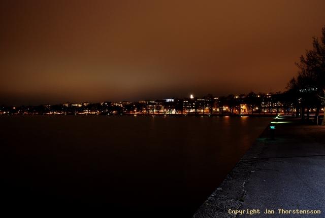 Motala och Vadstena by night