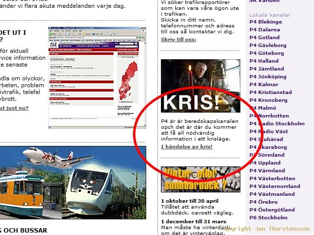 Sveriges Radio vid (i) kris