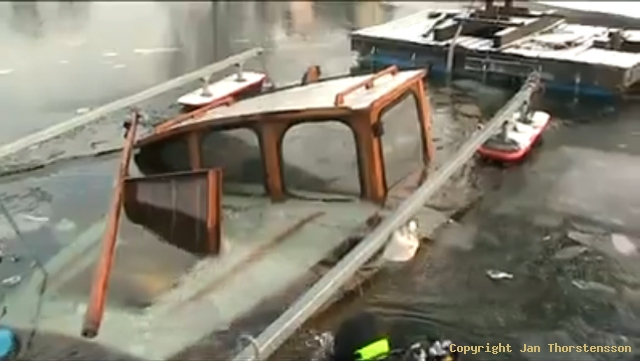 Båten som sjönk i Motala Ström