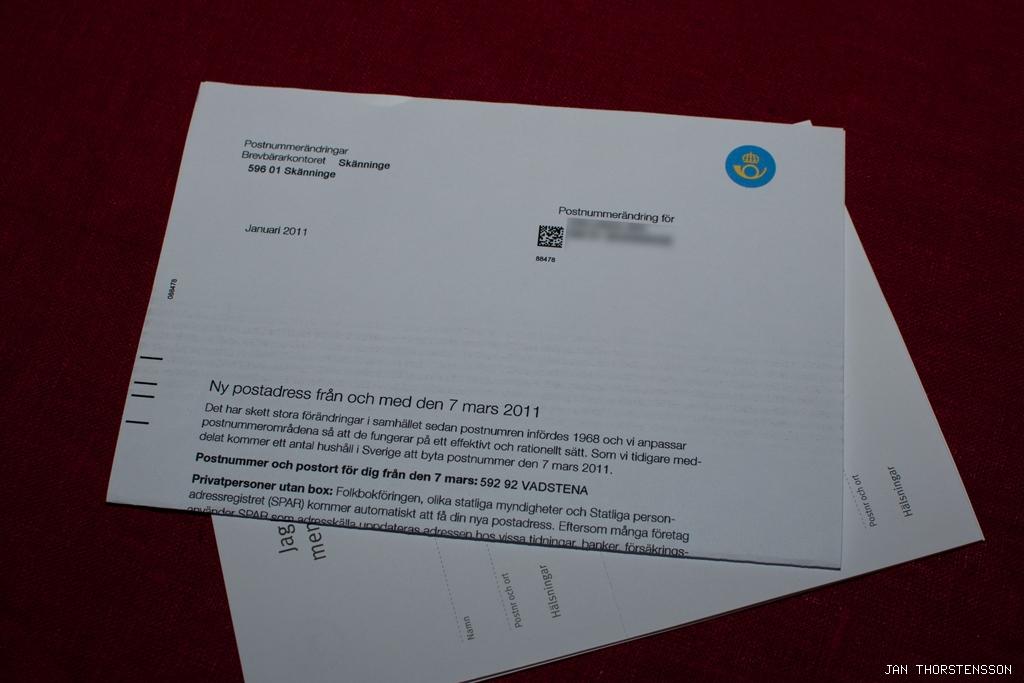 Ny postadress