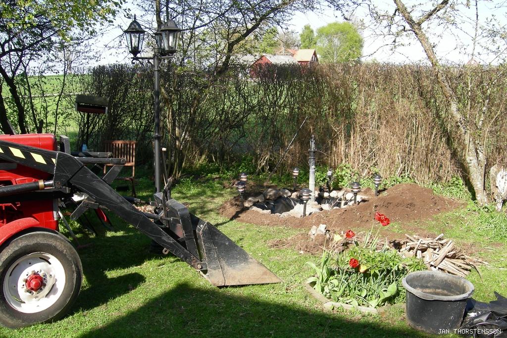 Ny trädgårdsdamm