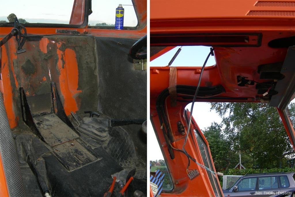 Traktorrenovering – omtapetsering