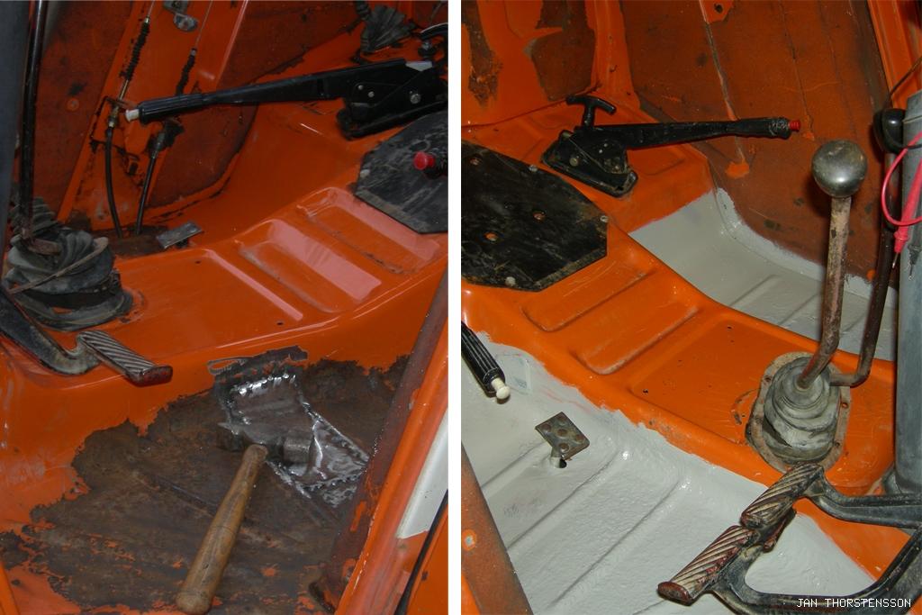 Traktorrenovering – the bottom is nådd