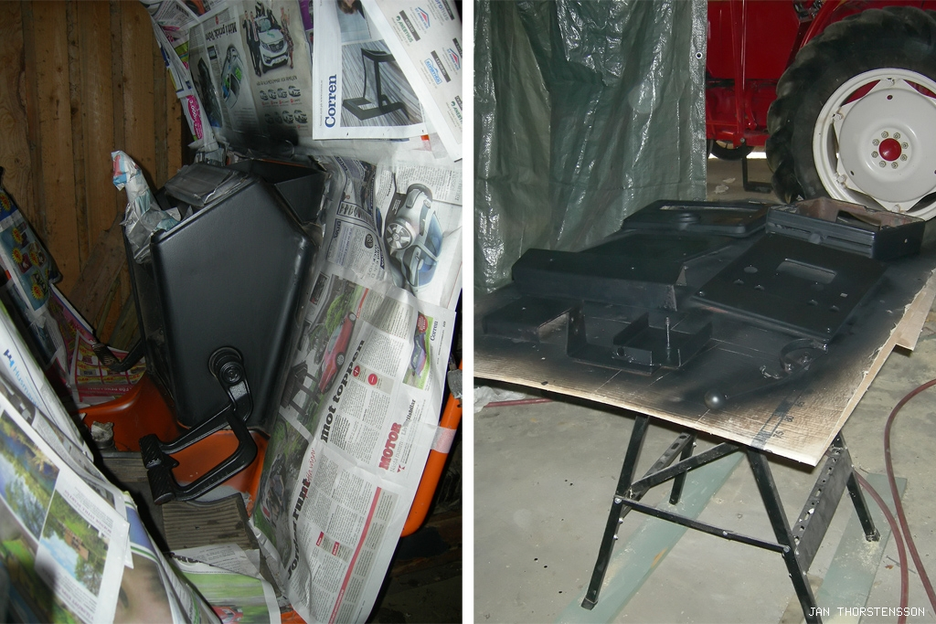 Traktorrenovering – paint it black