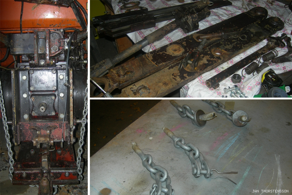 Traktorrenovering – Clean the rear
